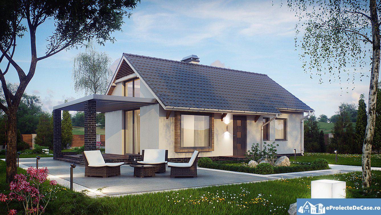 Proiect casa cu mansarda a5 for Proiect casa 100 mp fara etaj