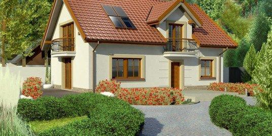 Proiect casa cu mansarda A7