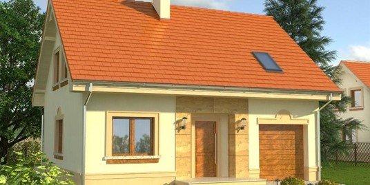 Proiect casa cu mansarda A8