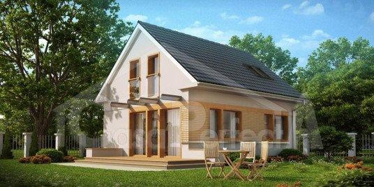Proiect casa cu mansarda A43