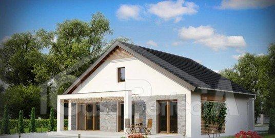 Proiect casa cu mansarda A54