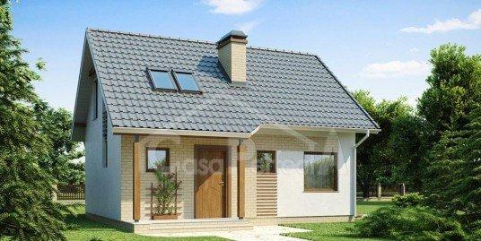 Proiect casa cu mansarda A48