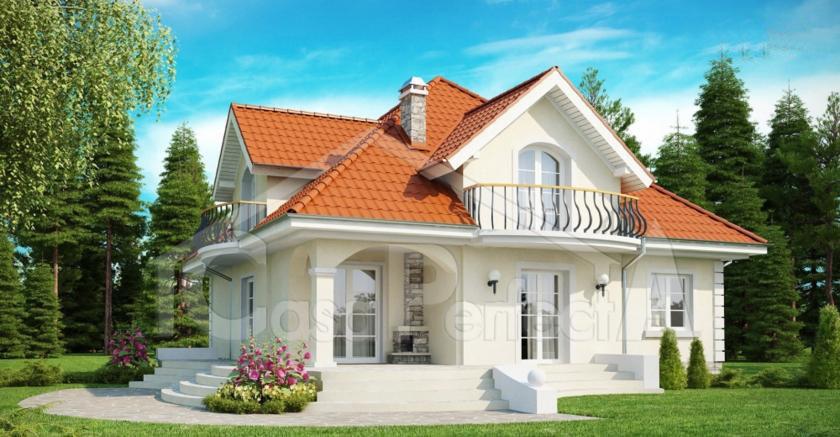Proiect casa parter cu mansarda A114