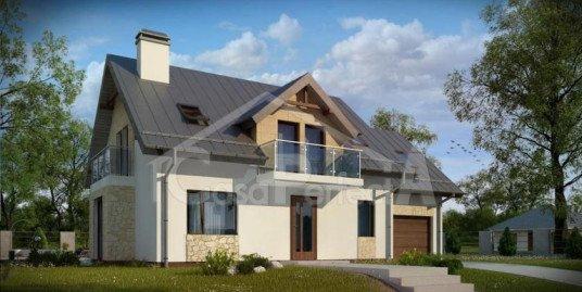 Proiect casa parter cu mansarda A106
