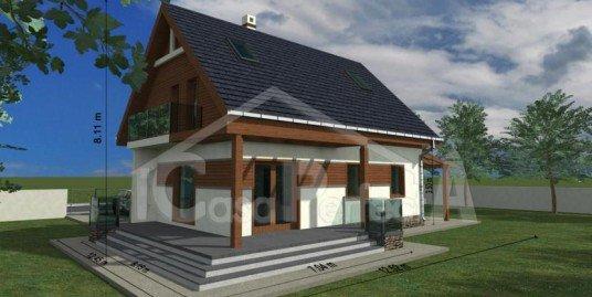 Proiect casa parter cu mansarda A79