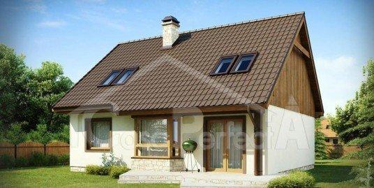Proiect casa parter cu mansarda A111