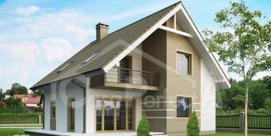 Proiect casa parter cu mansarda A113