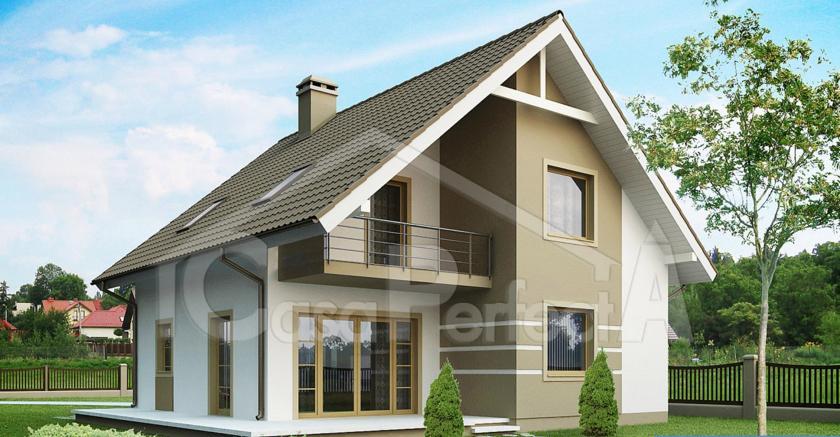 Proiect Casa Mansarda Case Garaj