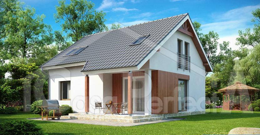 Proiect casa parter cu mansarda A78