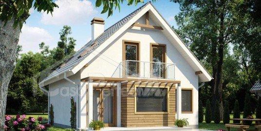 Proiect casa parter cu mansarda A103