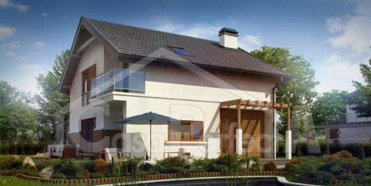 Proiect casa parter cu mansarda A100