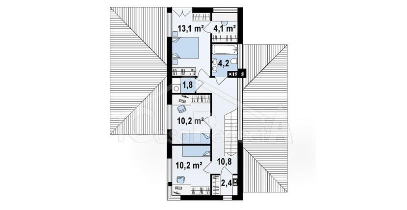 Proiect-casa-cu-Mansarda-si-Garaj-e25011-mansarda