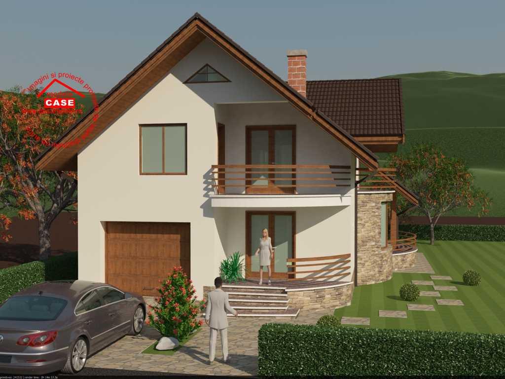 Proiect casa a217 for Youtube case cu mansarda