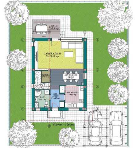 Proiect casa a245 for Case minimaliste moderne