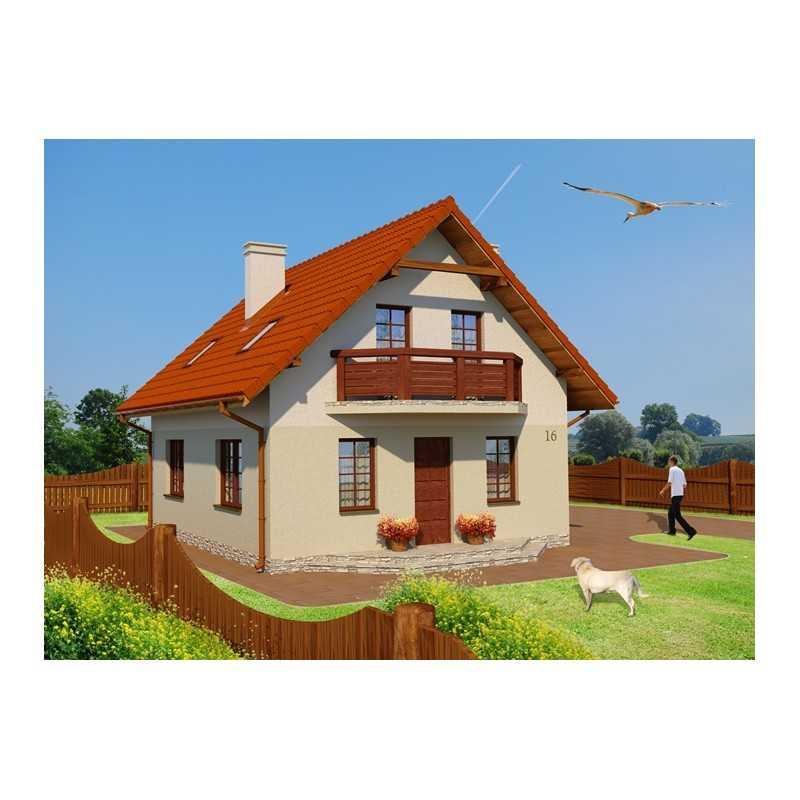 Proiect casa a246 for Case de lemn pret 10000 euro