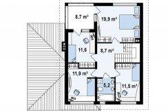 proiect-casa-cu-mansarda-si-garaj-e24011-mansarda